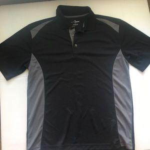 Men's Black/Gray Golf Polo Shirt